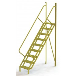 Tri Arc - UCL5009242 - Configurable Crossover Ladder, Steel, 90 Platform Height, Number of Steps 9