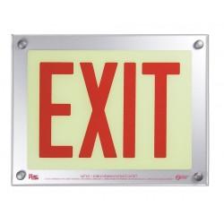 Safe Glow - E-06R-FS - Exit and Entrance, Aluminum, Plastic, 9-11/32 x 12-5/32, Surface