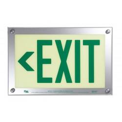 Safe Glow - DEL-06G-TS - Exit and Entrance, Aluminum, Plastic, 9-11/32 x 14-15/32, T-Bar