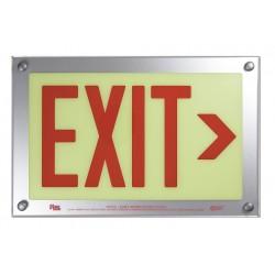 Safe Glow - DER-06R-TS - Exit and Entrance, Aluminum, Plastic, 9-1/2 x 14-5/8, T-Bar