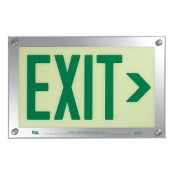 Safe Glow - DER-06G-TS - Exit and Entrance, Aluminum, Plastic, 9-1/2 x 14-5/8, T-Bar