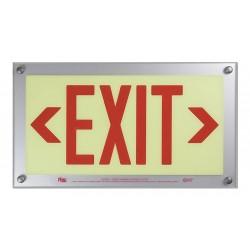 Safe Glow - BDE-06R-CS - Exit and Entrance, Aluminum, Plastic, 9-11/32 x 16-3/4, T-Bar