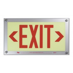 Safe Glow - BDE-06R-CD - Exit and Entrance, Aluminum, Plastic, 9-11/32 x 16-3/4, T-Bar