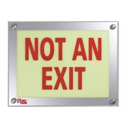 Safe Glow - NAE-06R-FS - Exit and Entrance, Aluminum, Plastic, 9-11/32 x 12-5/32, Surface