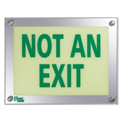 Safe Glow - NAE-06G-TS - Exit and Entrance, Aluminum, Plastic, 9-11/32 x 12-5/32, T-Bar