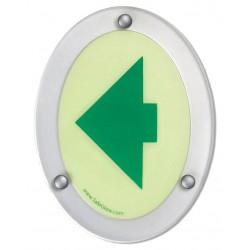 Safe Glow - LLA-01G - Notice Sign, 6-1/4 x 4-3/4in., GRN/YLW-GRN