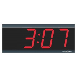 Pyramid Technologies - 9D34BR - 4-1/2 x 11-1/2 Rectangle LED Wall Clock, Black ABS Plastic Frame