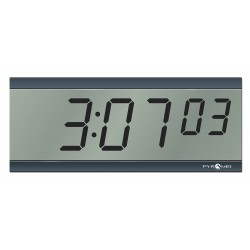 Pyramid Technologies - S9D3L6GBBB - 4-1/2 x 11-1/4 Rectangle LCD Wall Clock, Black ABS Plastic Frame