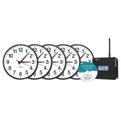 Pyramid Technologies - WSCBA-5 - 13-1/4 Round Wall Clock Arabic, Black ABS Plastic Frame