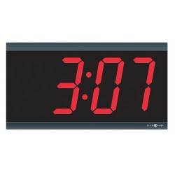 Pyramid Technologies - SED4R4LDRB - 6-1/4 x 11-1/2 Rectangle LED Wall Clock, Black ABS Plastic Frame