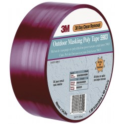 3M - 5903 - 3M 07591 Outdoor Masking Poly Tape 5903 Red, 5 in x 60 yd 7.5 mil, 8 per case Bulk