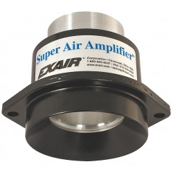 Exair - 120024 - High Efficiency Fixed Aluminum Air Amplifier, Inlet Dia.:4.91