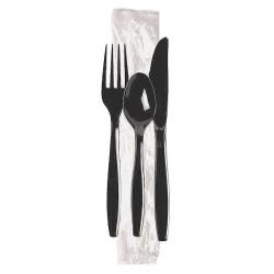 Dixie - CH56C7 - Polystyrene Disposable Cutlery Set, Black; PK250