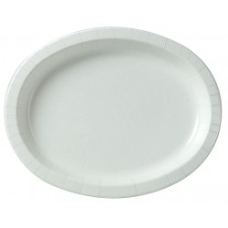 Dixie - SX11PLW - 8-5/8 x 11 Oval Disposable Platter, White; PK500