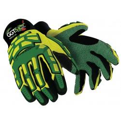 HexArmor - 4020X-L (9) - Cut Resistant Gloves, ANSI/ISEA Cut Level 5 Lining, Green, Yellow, L, PR 1