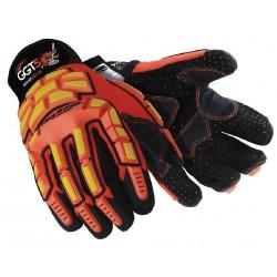 HexArmor - 4021X-L (9) - Cut Resistant Gloves, ANSI/ISEA Cut Level 5 Lining, Orange, Yellow, L, PR 1