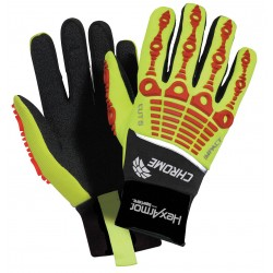 HexArmor - 4036-L (9) - Cut Resistant Gloves, ANSI/ISEA Cut Level 5 Lining, Red, Yellow, L, PR 1