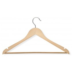 Honey-can-do - HNG-01206 - Wood, Rubber Suit Hanger with Maple Finish; PK4