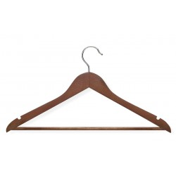 Honey-can-do - HNG-01207 - Wood, Rubber Suit Hanger with Cherry Finish; PK4