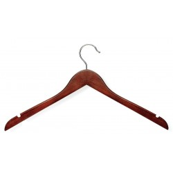 Honey-can-do - HNG-01213 - Wood Shirt Hanger with Cherry Finish; PK5