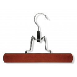 Honey-can-do - HNG-01222 - Wood Pant Hanger with Cherry Finish; PK4