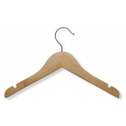 Honey-can-do - HNG-01224 - Wood Kids Shirt Hanger with Maple Finish; PK5
