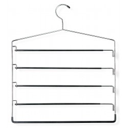 Honey-can-do - HNG-01202 - Metal/Vinyl Pant Rack Hanger with Chrome/Black Finish; PK1