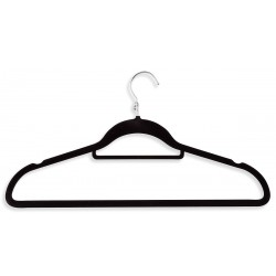 Honey-can-do - HNG-01091 - Flock Coated Metal Cascading Suit Hanger with Black Finish; PK3