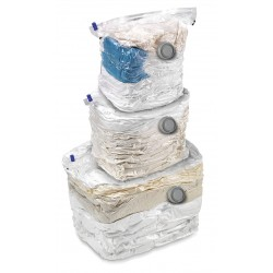 Honey-can-do - VAC-01301 - Honey-can-do 3-Pack Combo Set Vacuum Cubes - Clear - Plastic - 3Pack - Cloth