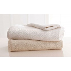 Grand Patrician / West Point Home - GRAND PATRICIAN - 90 x 66 Twin 100% Cotton Blanket, White