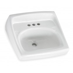 American Standard - 0355012PL.020 - Vitreous China Wall Bathroom Sink Without Faucet, 15 x 10 Bowl Size