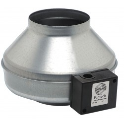 Fantech - FG 5 - Galvanized Steel Inline Fan, Fits Duct Dia. 5, Voltage 120V