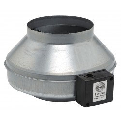 Fantech - FG 8 - Galvanized Steel Inline Fan, Fits Duct Dia. 8, Voltage 120V