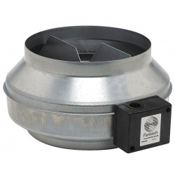 Fantech - FG 12 - Galvanized Steel Inline Fan, Fits Duct Dia. 12, Voltage 120V