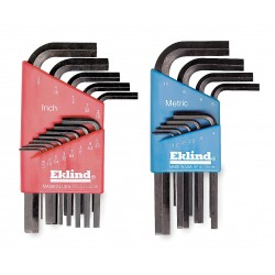 Eklind Tool - 11122 - Short L-Shaped SAE/Metric Natural Hex Key Set, Number of Pieces: 22