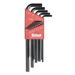 Eklind Tool - 11213 - Long L-Shaped SAE Natural Hex Key Set, Number of Pieces: 13