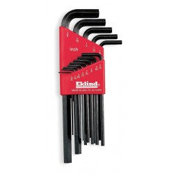 Eklind Tool - 11222 - Long L-Shaped SAE/Metric Natural Hex Key Set, Number of Pieces: 22