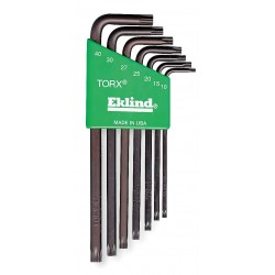 Eklind Tool - 11907 - Long L-Shaped Torx Natural Torx Key Set, Number of Pieces: 7