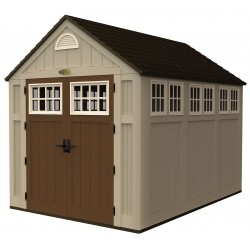 Suncast - BMS8000 - Outdoor Storage Shed, 8x7x10, Sand