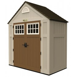 Suncast - BMS7300D - Outdoor Storage Shed, 8x7x3, Sand