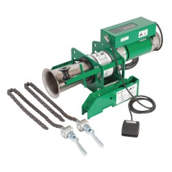 Greenlee / Textron - 6901 - Cable Puller, 8000 lb, 120V, w/Chain Mount