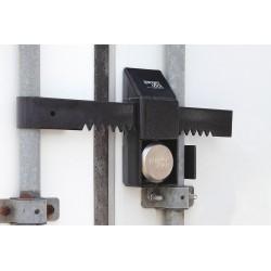 SGM Enterprises - RDPO-HP - Hardened Steel Disc/Hidden Shackle Lock Padlock Guard, 9H x 4W x 15L, Black