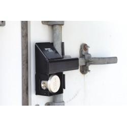 SGM Enterprises - RDSC-HP - Hardened Steel Disc/Hidden Shackle Lock Padlock Guard, 9H x 3-1/2W x 9L, Black