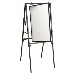 Balt / MooreCo - 799 - Gloss-Finish Steel Dry Erase Board, Easel Mounted, Portable/Carry, 40H x 27W, White