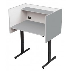 Balt / MooreCo - 89789 - Study Carrel, Gray