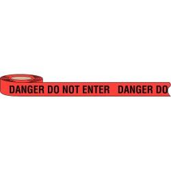Brady - 102824 - Barricade Tape, Red/Black, 1000 ft x 3 In