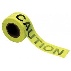 Brady - 91083 - Brady 3 X 50 Yd Black/Yellow 3 mil Cotton Biodegradable Barricade Tape CAUTION, ( Roll )