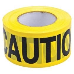 Brady - 91212 - Brady 3 X 200' Black/Yellow Polyethylene Barricade Tape CAUTION, ( Roll )