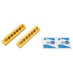 Brady - 51264 - Brady Yellow Reinforced Fiberglass/Nylon Breaker Blocker Lockout Device (2 ea), ( Package )
