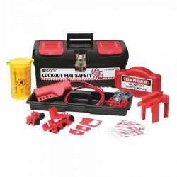 Brady - 105954 - Portable Lockout Kit, Filled, Electrical/Valve Lockout, Tool Box, Black